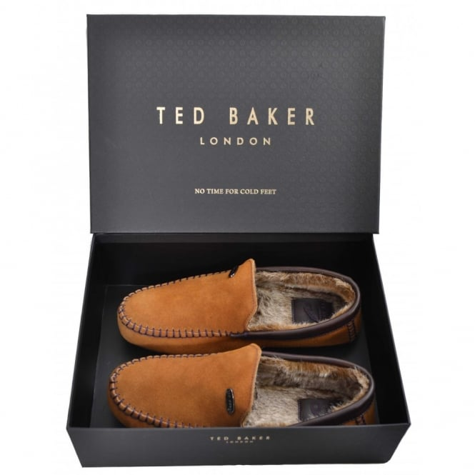 9d1bdd5c890a Ted Baker Mens Tan Ruffas Suede AM Slippers