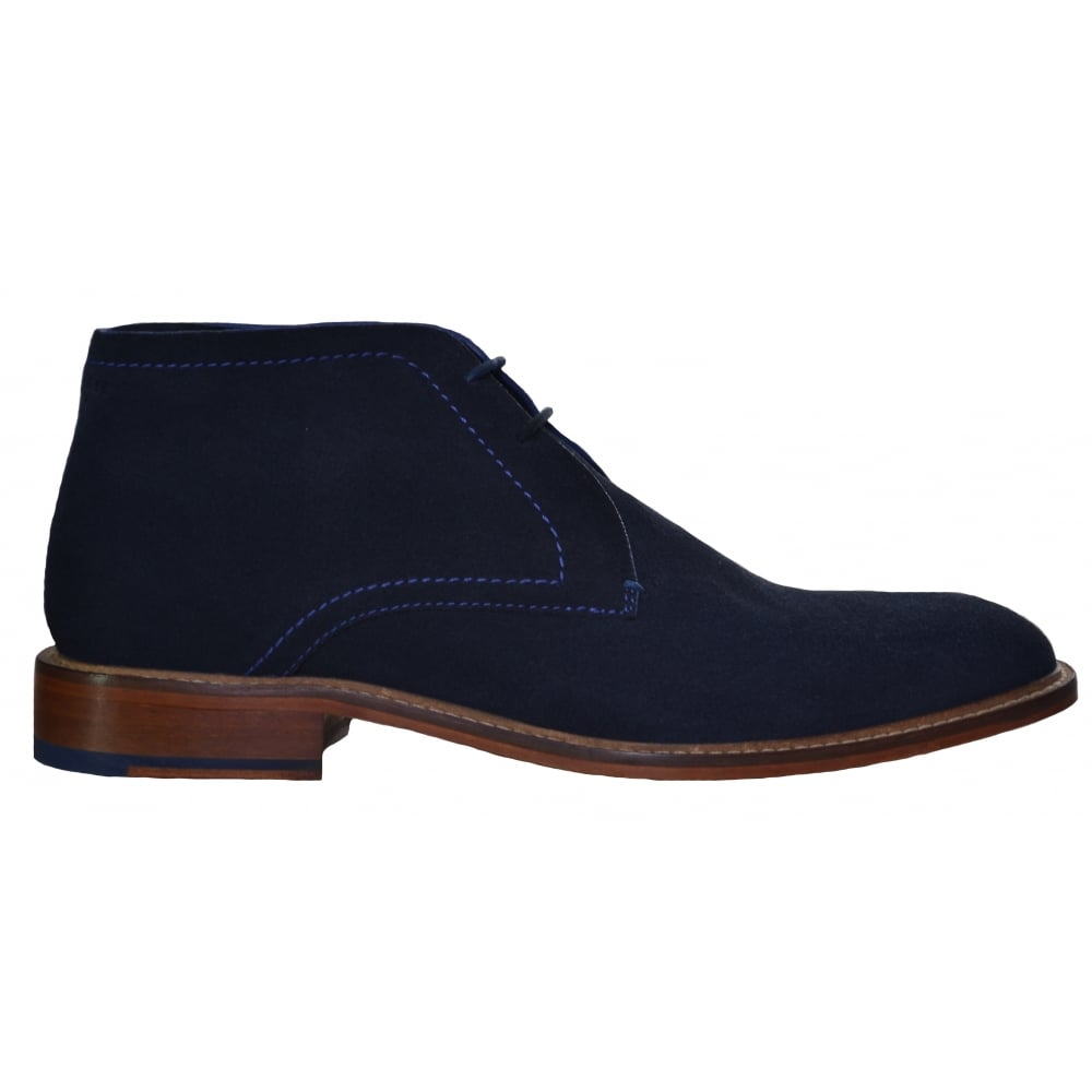 21888ddb06868 Ted Baker Torsdi 3 Dark Blue Suede AM Casual Ankle Boots