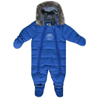Timberland Infants Blue All In One Snowsuit