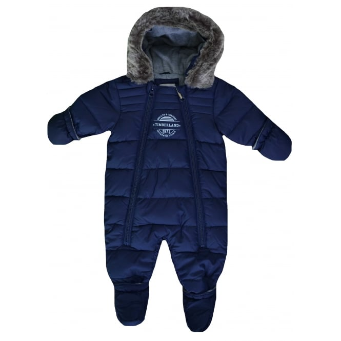 Timberland Infants Navy Blue All In One Snowsuit