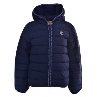 Timberland Infants Navy Blue Quilted Jacket
