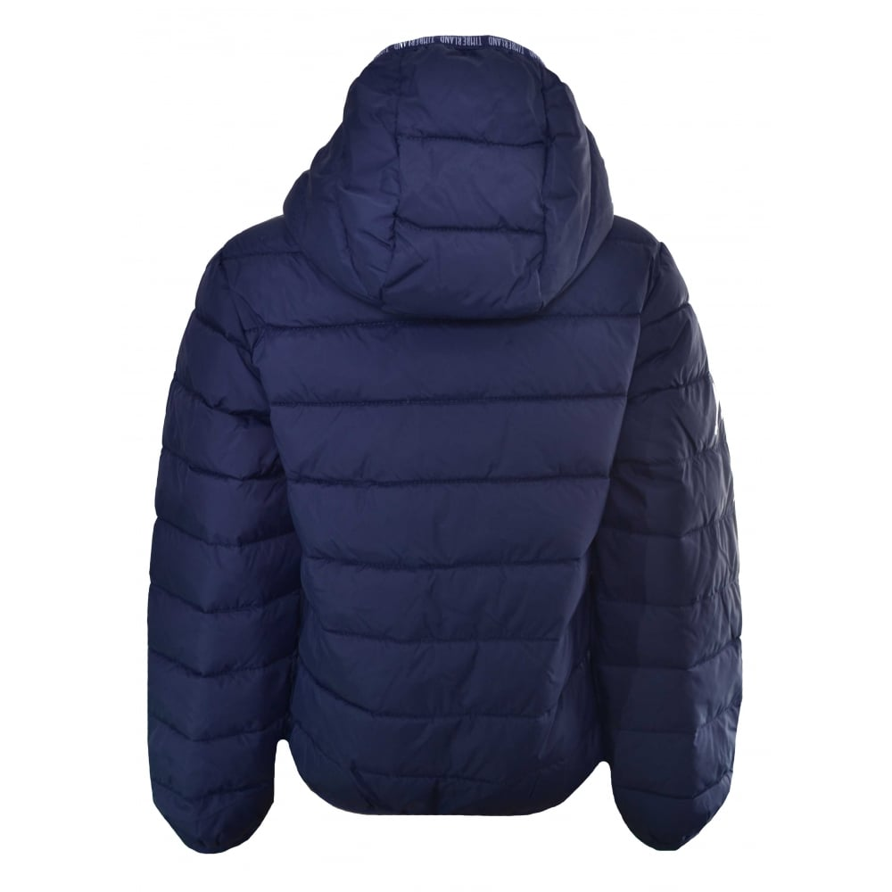 249b2e0f389e timberland kids navy hooded puffer jacket