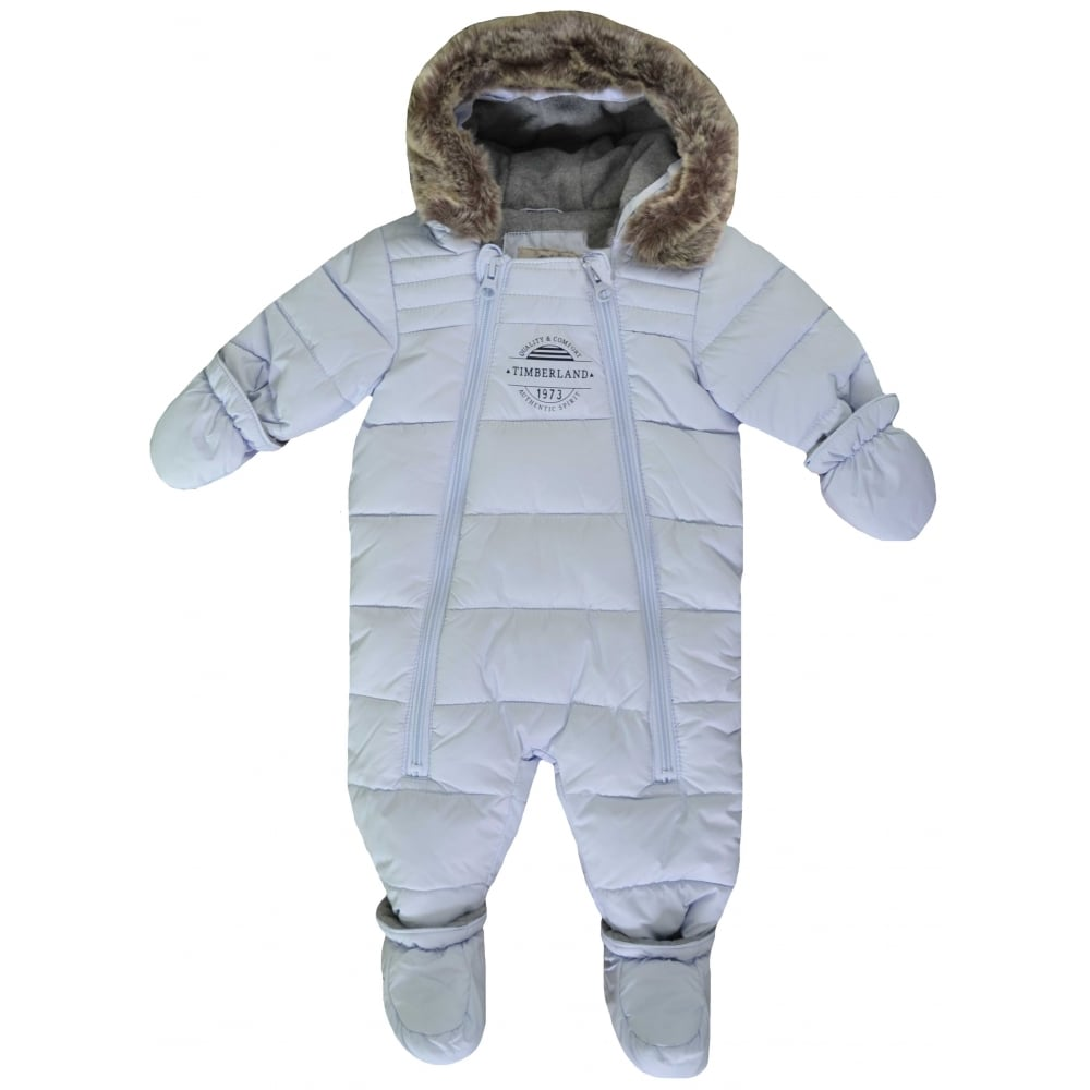 7a4c3935c Timberland Infants Pale Blue All In One Snowsuit