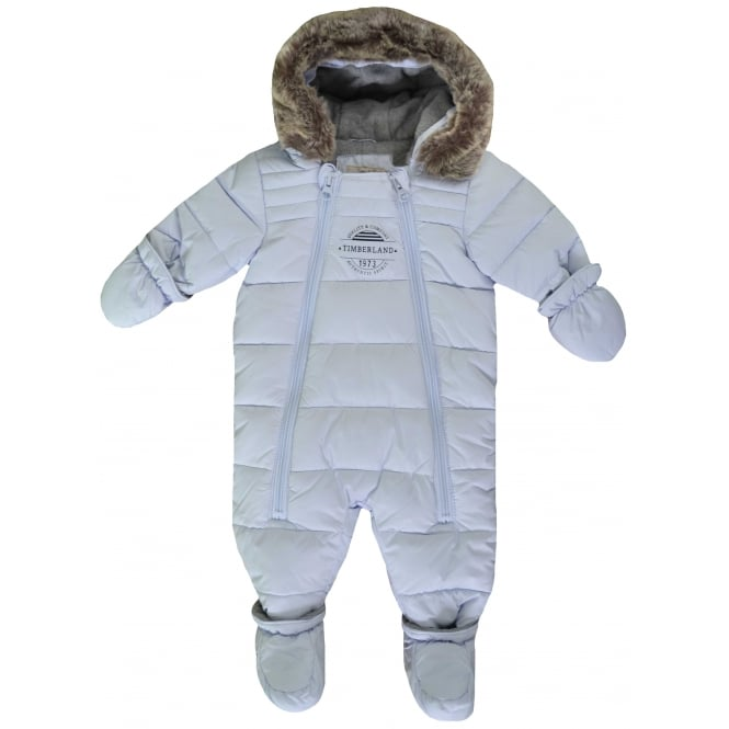 Timberland Infants Pale Blue All In One Snowsuit