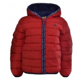 Timberland Infants Red Puffer Jacket