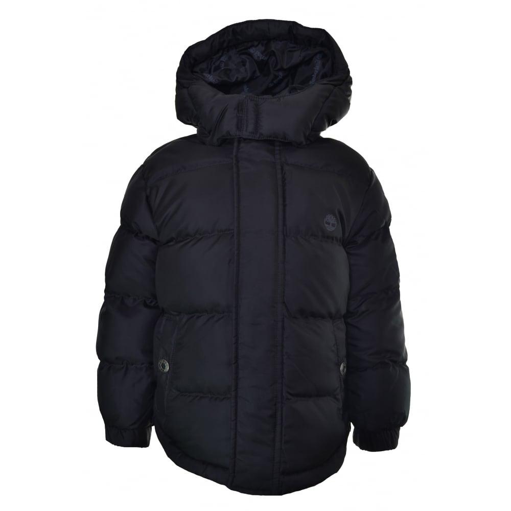 f47cca131b36 Timberland Kids Black Puffer Jacket
