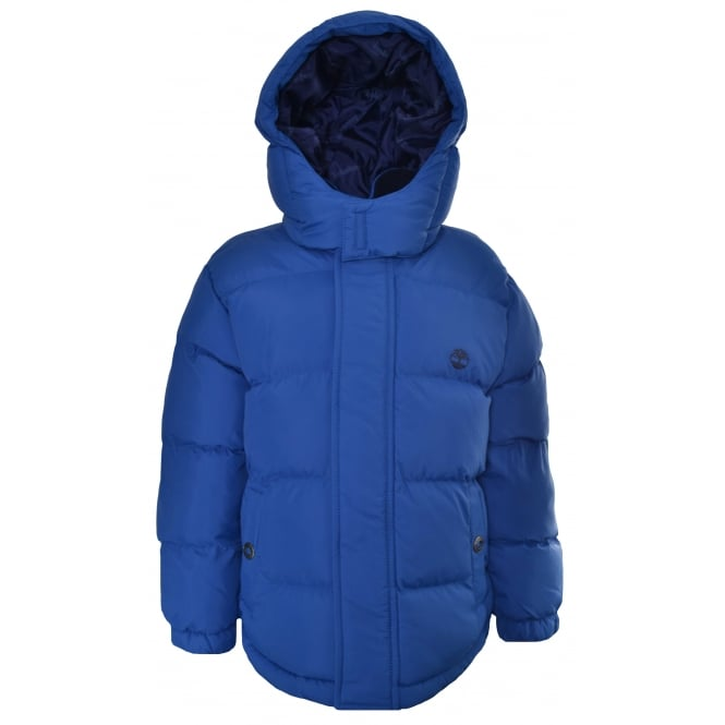 Timberland Kids Blue Puffer Jacket