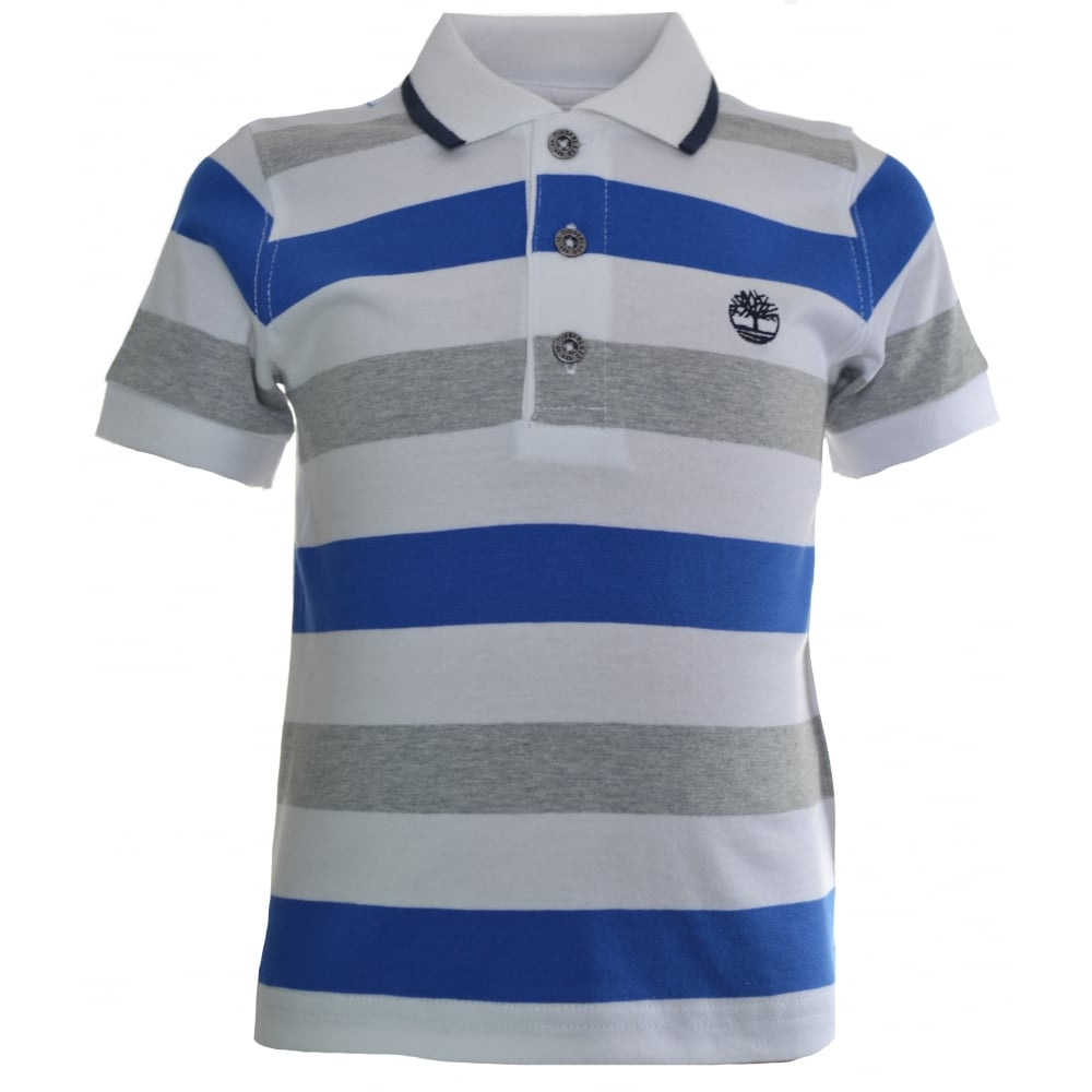 d0770e8c timberland kids blue striped polo shirt