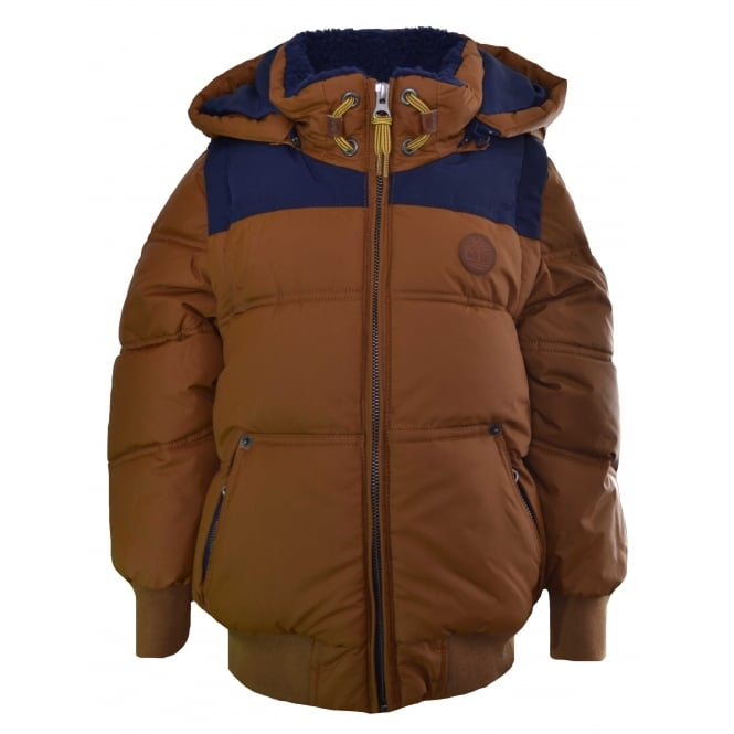 Timberland Kids Brown 2 in 1 Padded Jacket