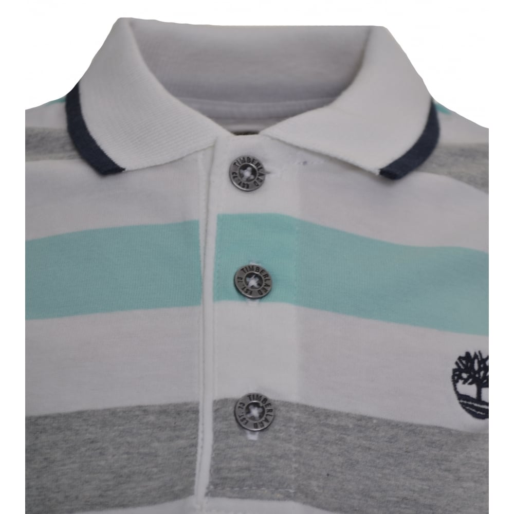 a5880e8e timberland kids grey striped polo shirt