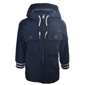Timberland Kids Navy Blue Hooded Parka