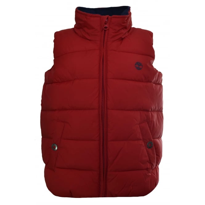 Timberland Kids Red Gilet
