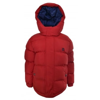Timberland Kids Red Puffer Jacket