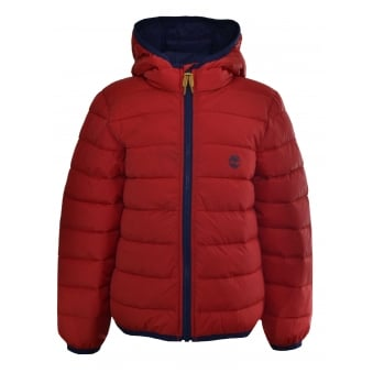 Timberland Kids Red Quilted Jacket