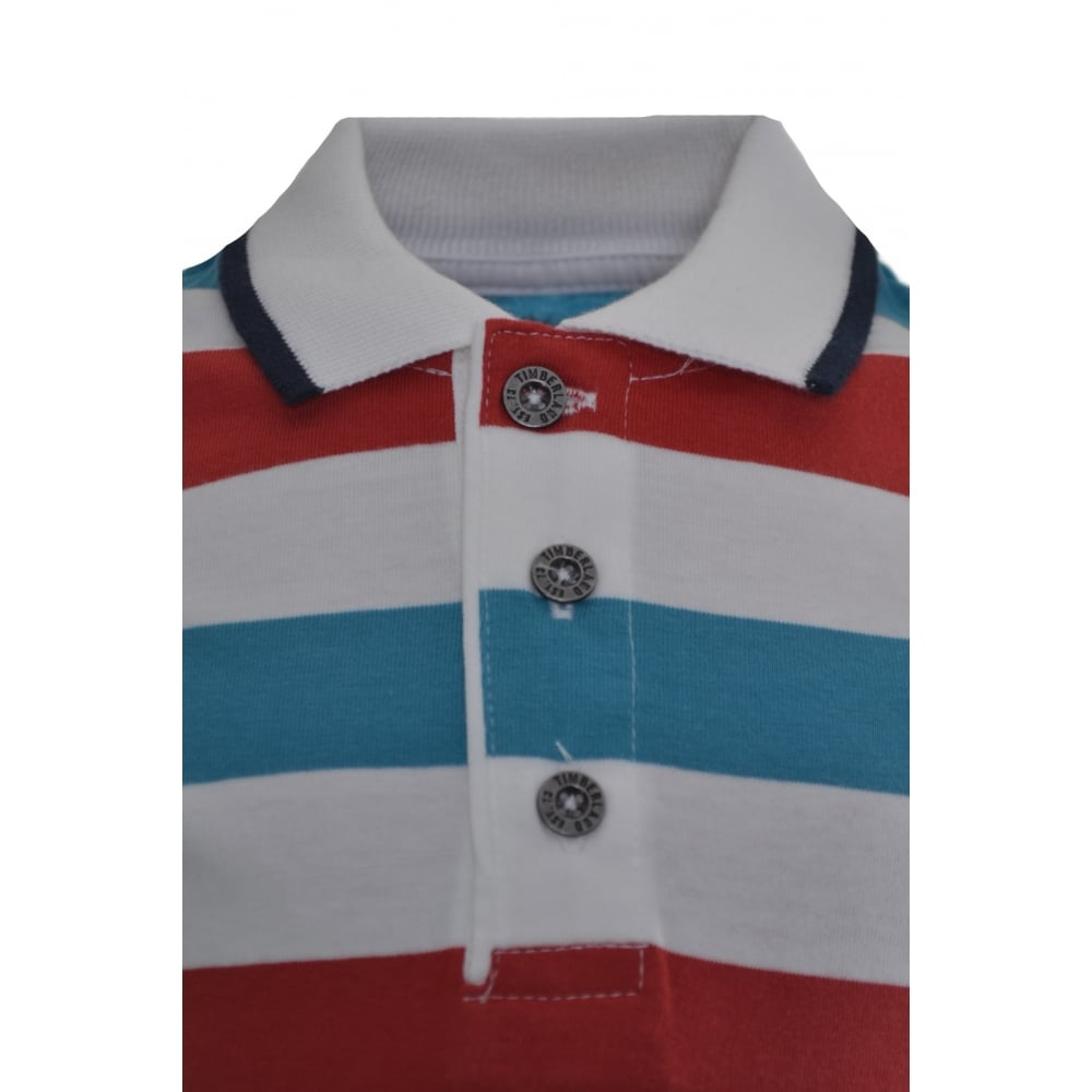 9cd6e792 timberland kids red striped polo shirt