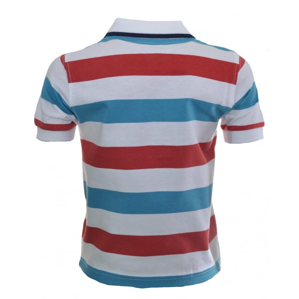 82bac177 timberland kids red striped polo shirt