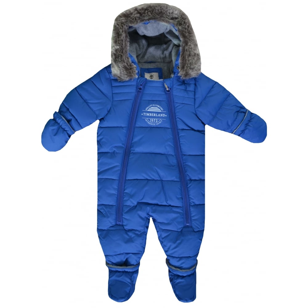 6e158cd893a Timberland Infants Blue All In One Snowsuit