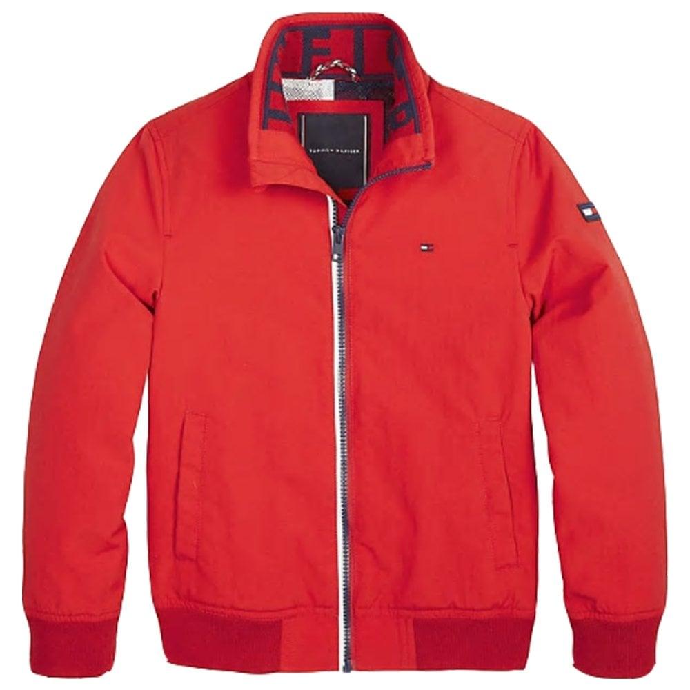 Tommy Hilfiger Boys Tommy Hilfiger Boys Essential Red Bomber Jacket