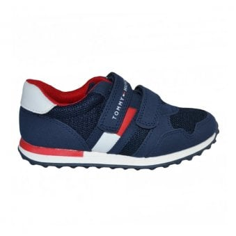 Tommy Hilfiger Boys Navy Velcro Trainer