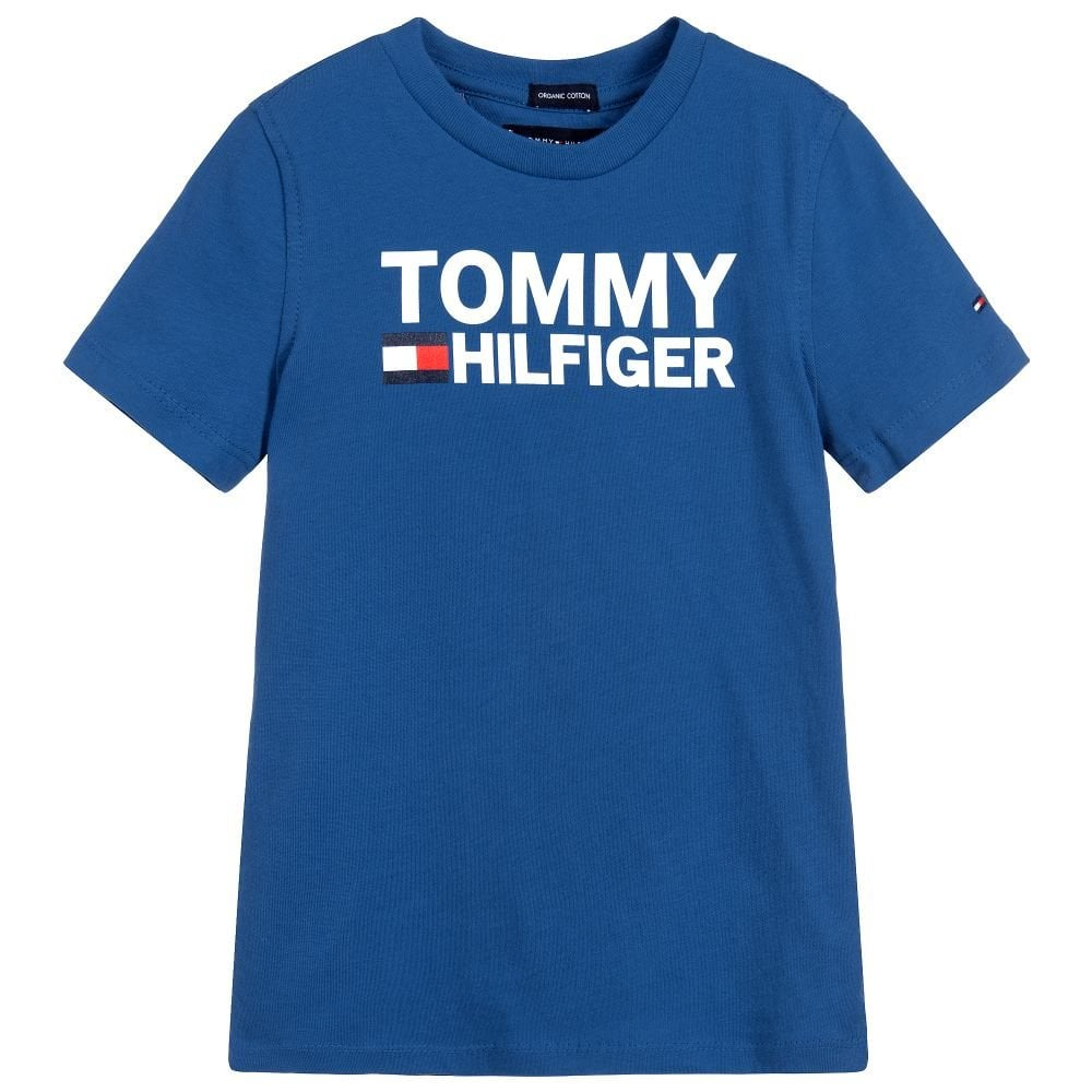 arrives retail prices look for Tommy Hilfiger Boys Tommy Hilfiger Infants And Kids Blue T-Shirt