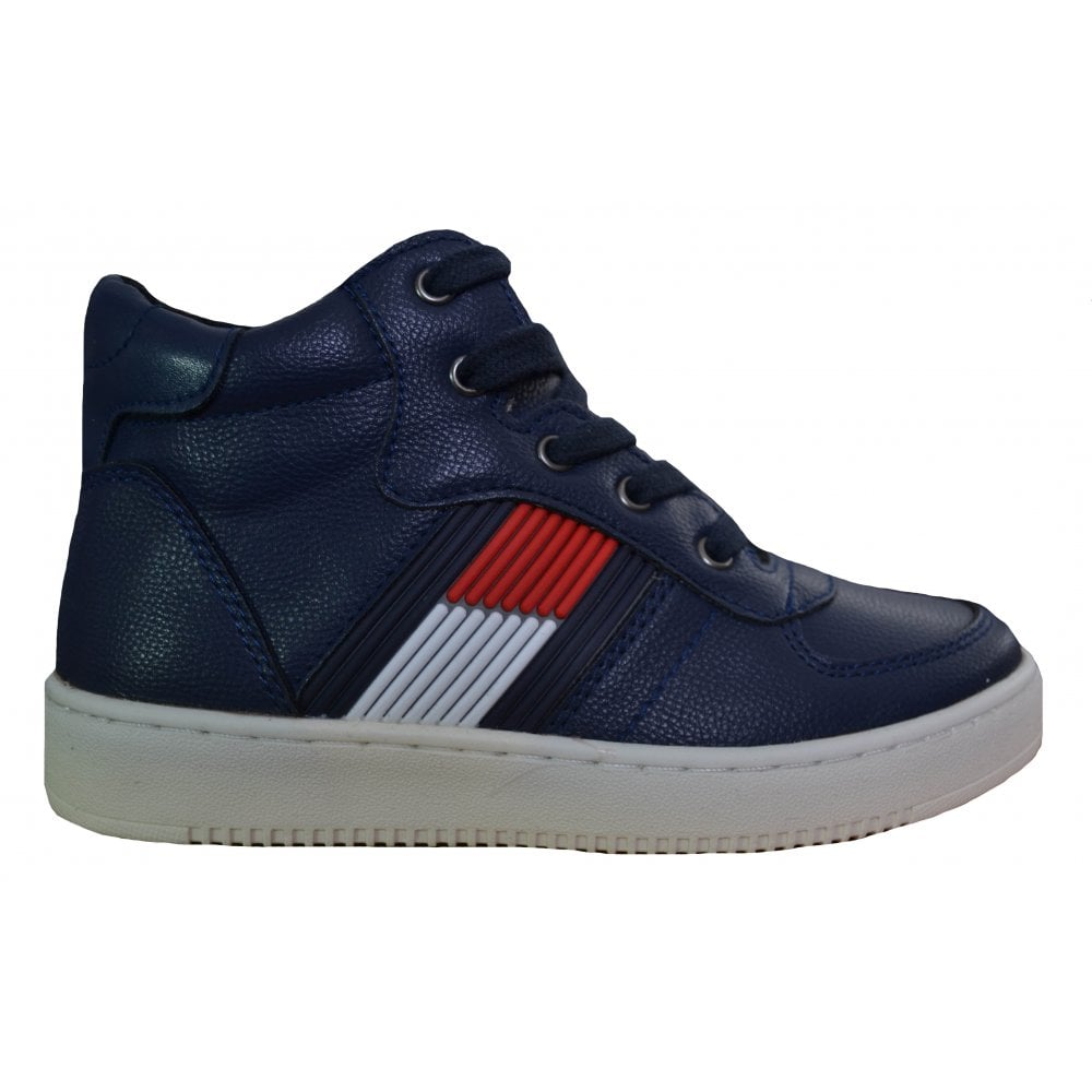 8e92e73ed8b7 Tommy Hilfiger Boys Tommy Hilfiger Kids Navy Blue High-Top Trainers ...