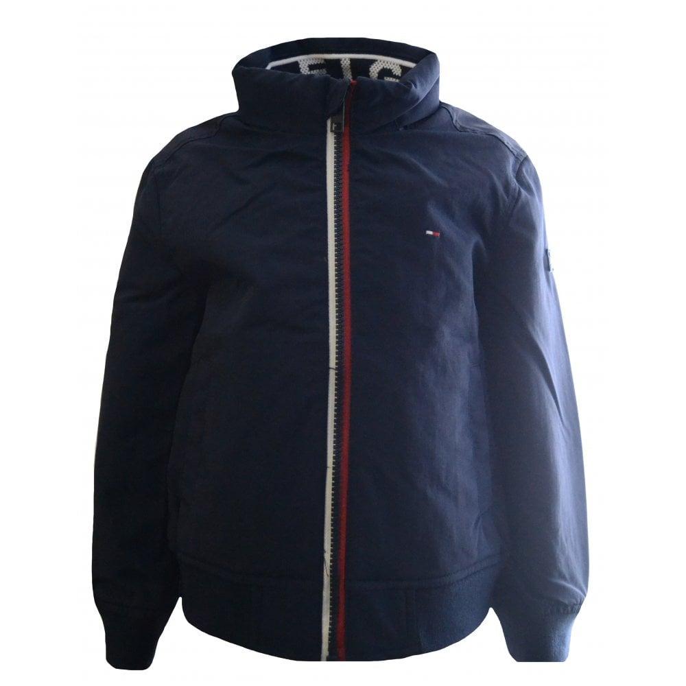ded8d399ffa53 Tommy Hilfiger Kids Navy Blue Jacket