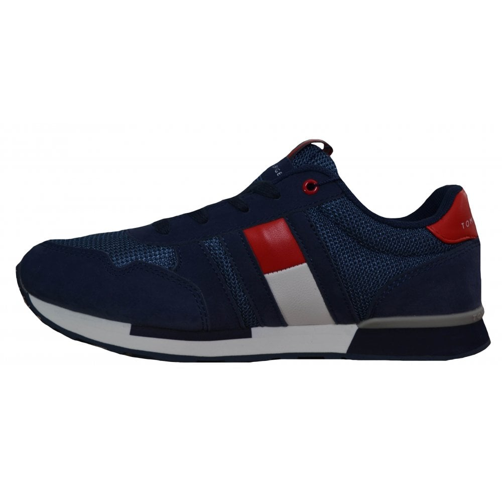 60ae2235c9e3 Tommy Hilfiger Kids Navy Blue Lace Up Trainers
