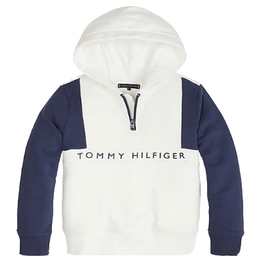 18ef7a73b Tommy Hilfiger Boys White Colour-Blocked Hoodie