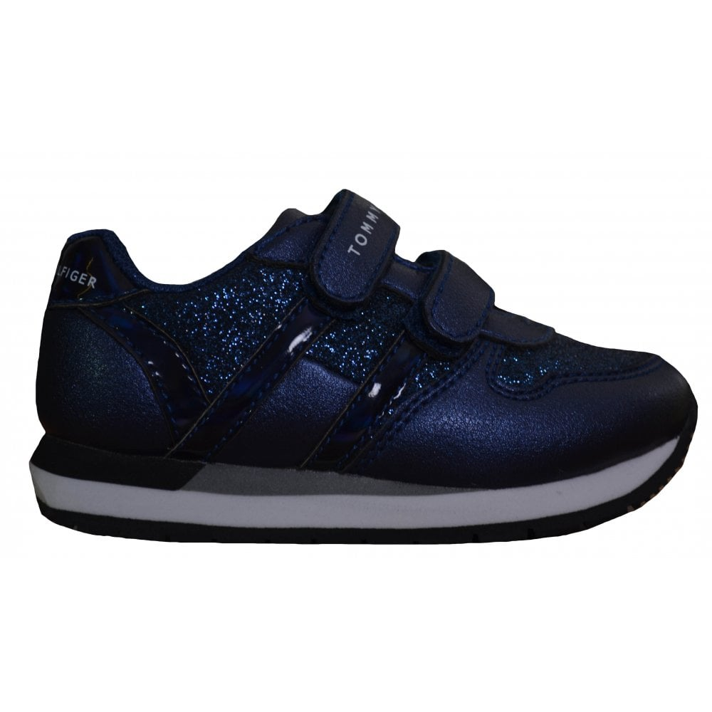 tommy hilfiger girls velcro trainers