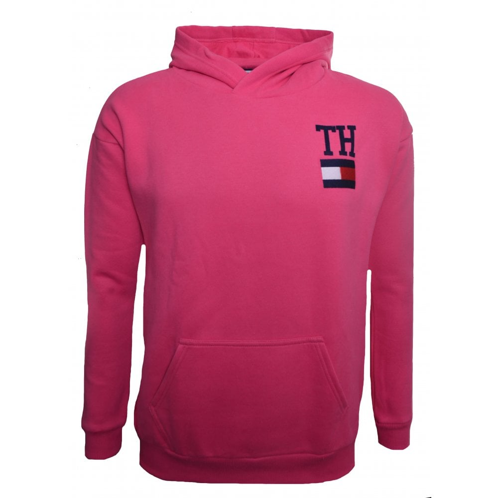 2e9f6d72362 Tommy Hilfiger Girls Pink Hooded Sweatshirt
