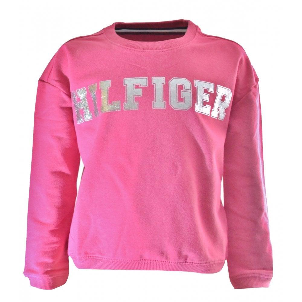 61e1f597c57c7c Tommy Hilfiger Girls Pink Sweatshirt