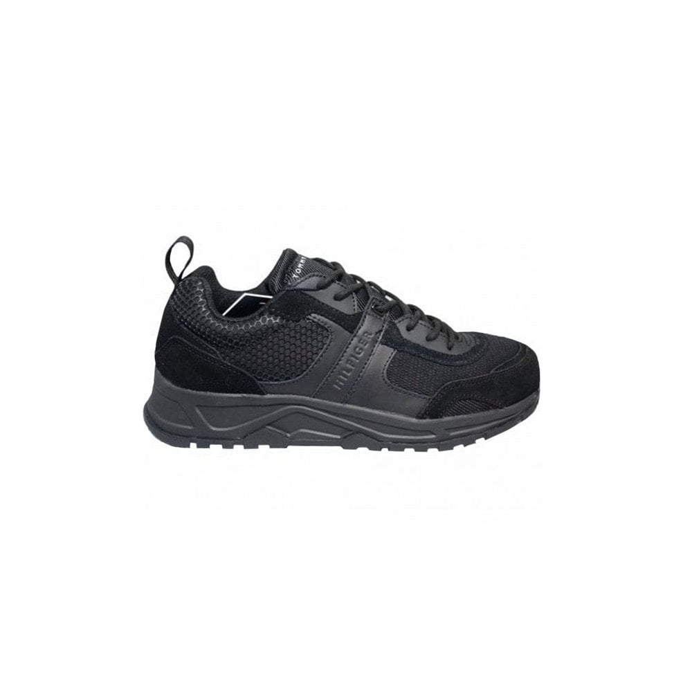 tommy hilfiger black trainers