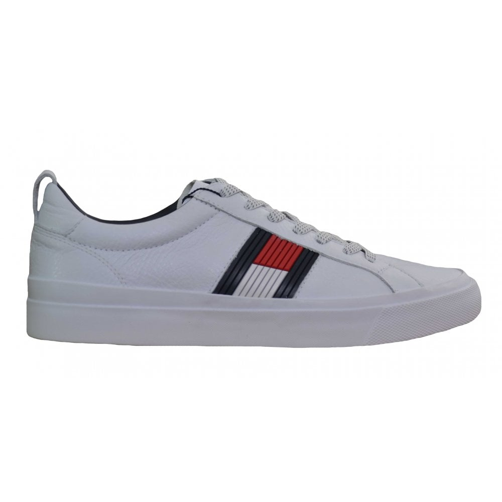 10ff01f72 Tommy Hilfiger Men  039 s Flag Detail White Trainers