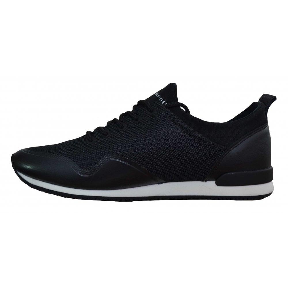 b7c2a251b Tommy Hilfiger Men  039 s Iconic Neoprene Sock Black Trainers