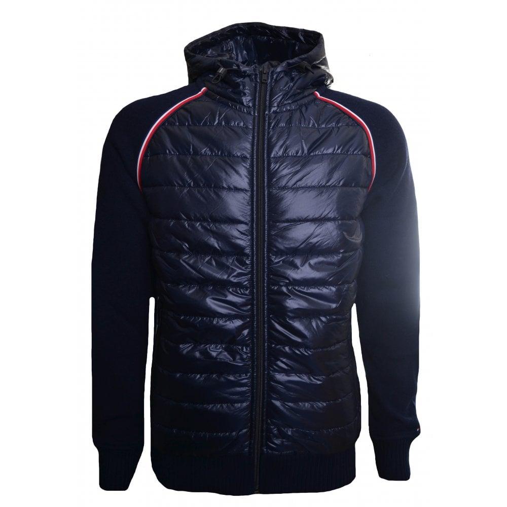 2da0ff48d3ff4b Tommy Hilfiger Men's Navy Blue Mixed Fabric Jacket