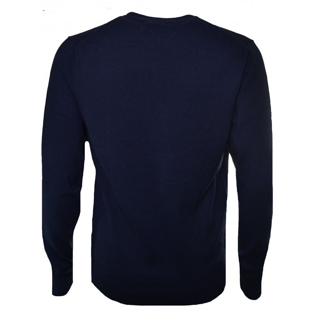 47adc6541e Tommy Hilfiger Men's Navy Blue Pima Cotton Cashmere Jumper