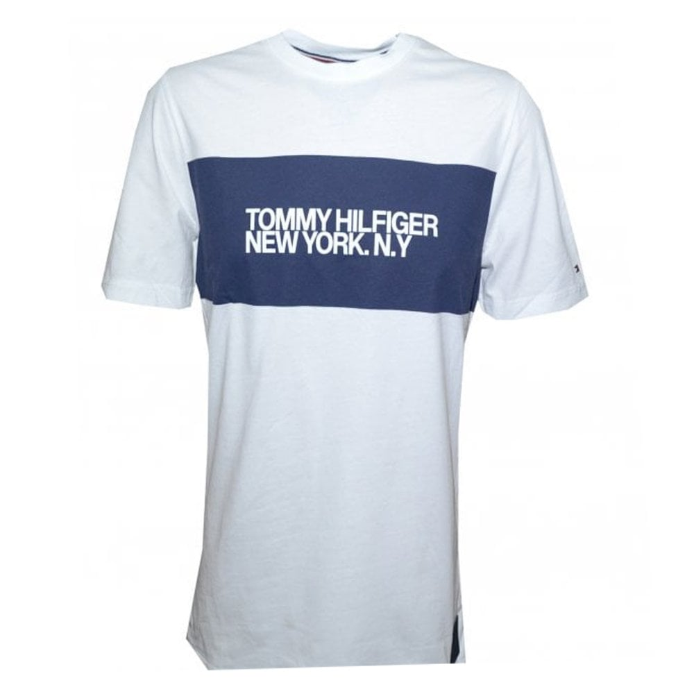 tommy hilfiger mens white  new york  t-shirt 57babc7e3bb